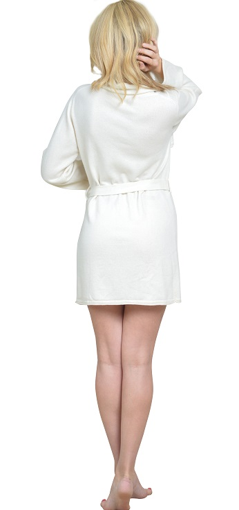 Anna Kouture Lesley Robe pure Cashmere Back view worn by Hunter Elizabeth Actress