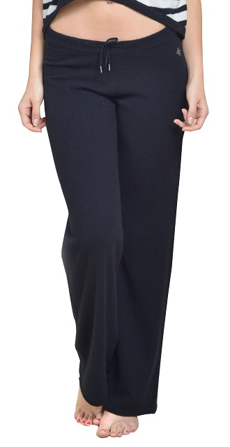 Anna Kouture Jennifer Loung Pant in Black 100% Cashmere Soft