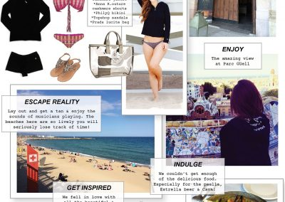 Barcelona Collage with Cute Cashmere Inspired Travel Lifestyle Ideas Ideas
