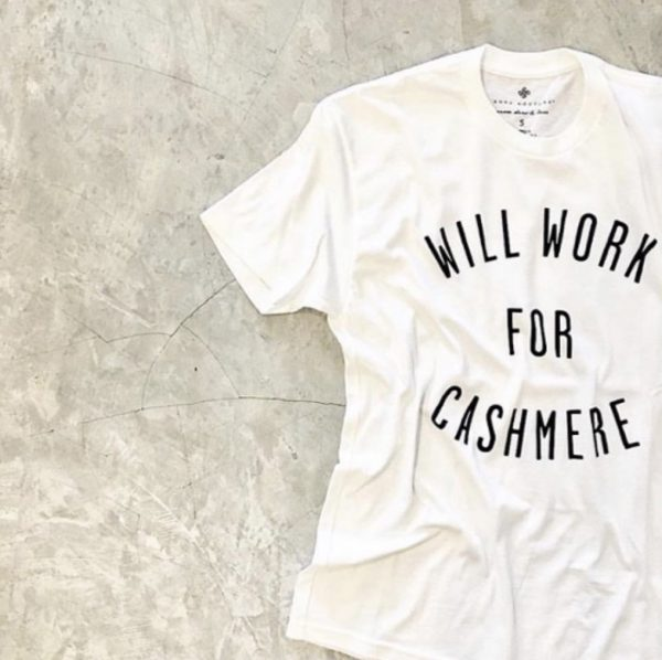 Anna Kouture White T-Shirt Will Work for Cashmere Lifestyle Inspired in color White